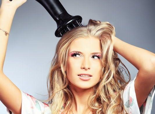 Укладка волос феном с диффузором