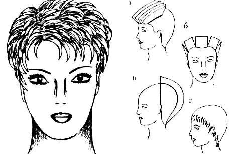 Схема женской стрижки