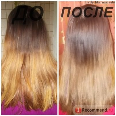 Домашнее ламинирование волос с желатином, ДО и ПОСЛЕ