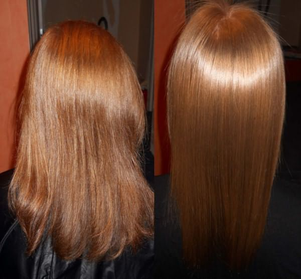 Результат ламинирования волос: до и после