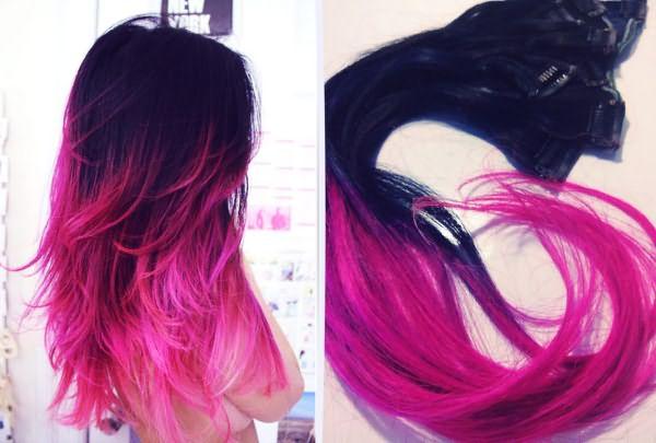 Двухцветный парик