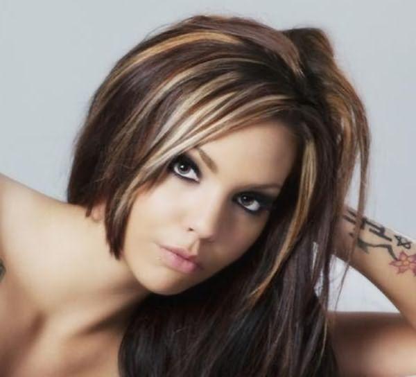 Окрашивание на темные волосы