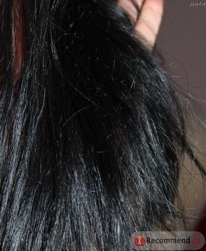 На фото видно что волосы стали более плотными и толстыми)))