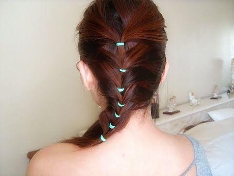 прическа с резиночками на длинные волосы