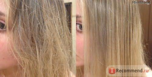 сырые волосы и высушенные