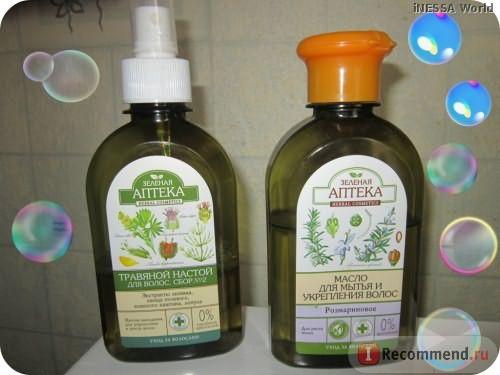 Масло для волос Зеленая аптека розмариновое фото