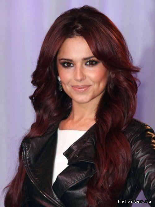 Цвет волос бордо фото