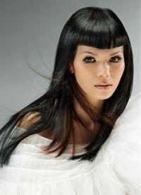 Стрижка паж на длинные волосы 1