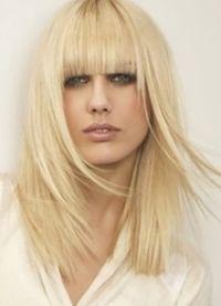красивые стрижки на длинные волосы с челкой 8