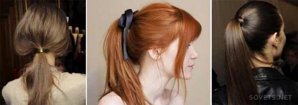 ежедневные прически с косичкой на средние волосы