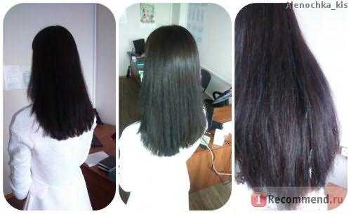 Волосы высешены с помощью фена