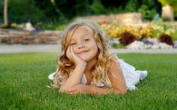 Красивые волосы у ребенка