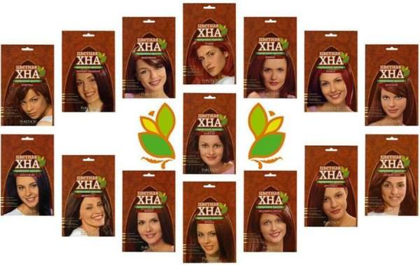 Цветная хна для волос в пакетиках