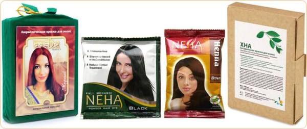Виды индийской хны для волос