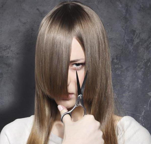 как самостоятельно подстричь кончики волос