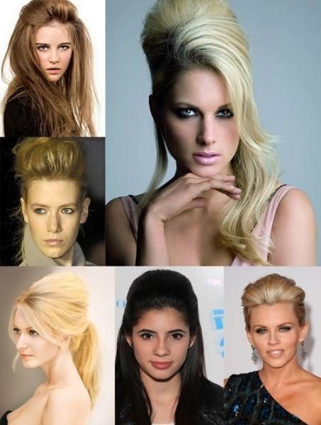 Прически для волос средней длины с начесом мы мастерски создадим сами и будем выглядеть современно и элегантно.