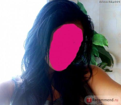 мой черный цвет, но перед смывкой волосы были длинее