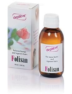 На фото показан лосьон против вросших волос «VELONA FOLISAN», который является на сегодняшний день одним из самых эффективных средств.