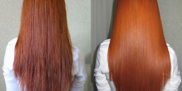 Фото волос до и после процедуры