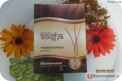 Травяная краска для волос Aasha herbals фото