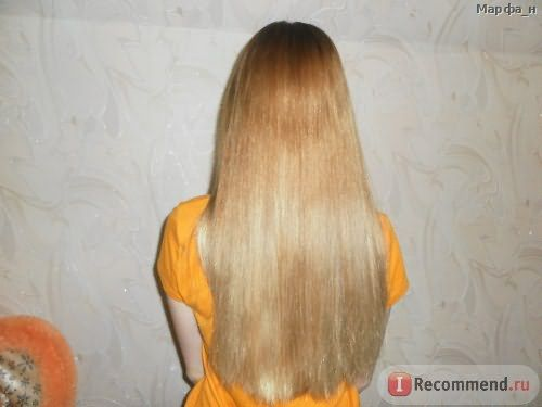 Фото со вспышкой сразу после высыхания волос без фена.
