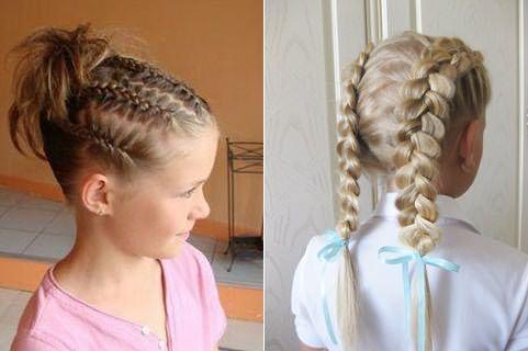 С этой длиной детских волос прически интересны и разнообразны.