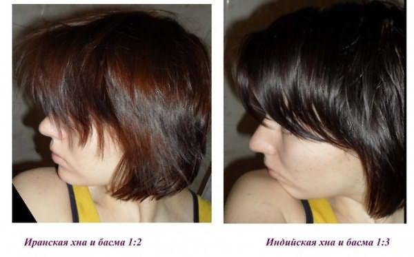 Оттенки волос, полученные с помощью хны и басмы
