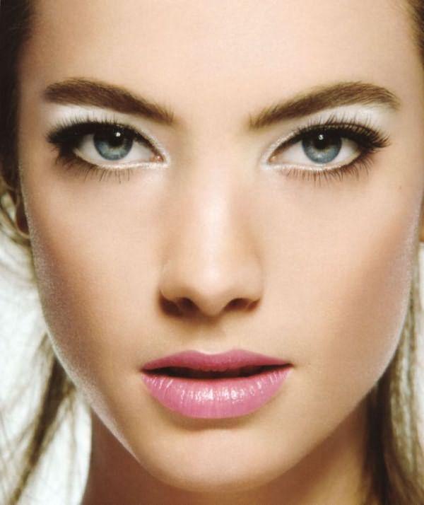 Дневной макияж для голубых глаз 1