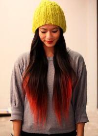 стрижка лисий хвост на длинные волосы 8