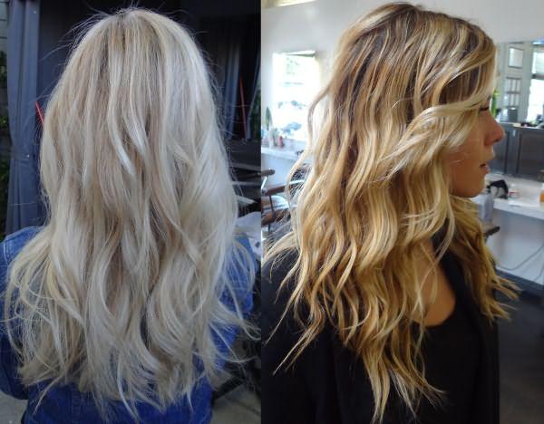 Волосы, завитые утюжком