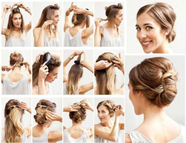 Прическа из собранных волос: фото-инструкция