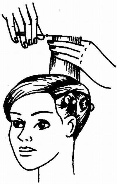 стрижка волос верхнезатылочной зоны