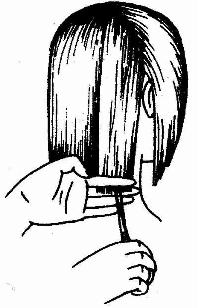 линия среза волос боковых зон