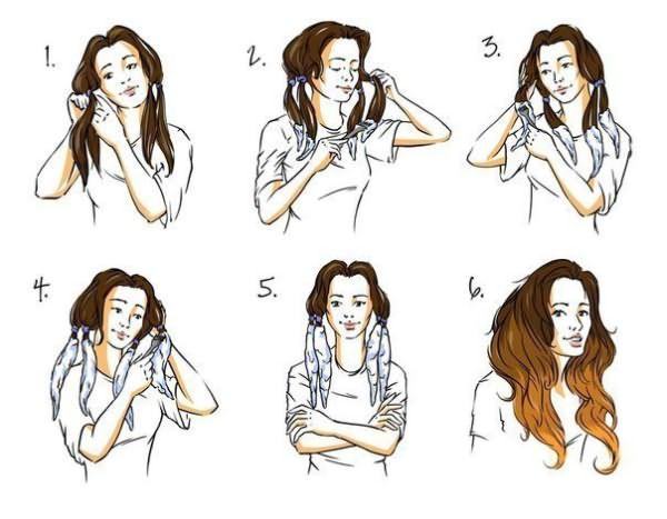 Последовательное нанесение тонирующего средства на кончики волос