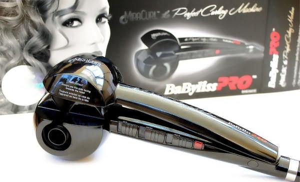 Отдельная категория - щипцы с паром для завивки волос, например, стайлер с автоматической подачей волос Babyliss PRO MIRACURL