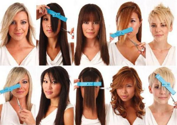 как можно подстричь кончики волос средней длины