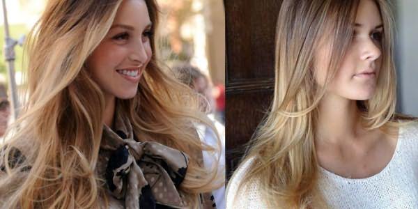 Окрашивание омбре на длинных светлых волосах