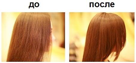 Фото до и после курса применения масок против ломкости