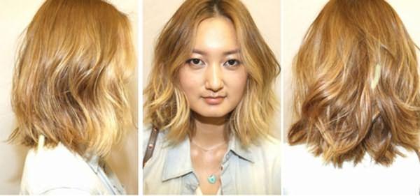 Девушка после колорирования волос