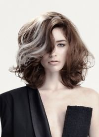 модное окрашивание 2016 на средние волосы 22