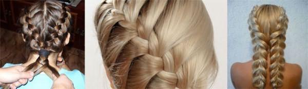 Плетение колоска для волос средней длины