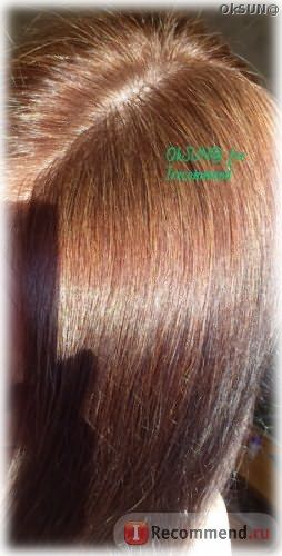 Цвет волос спустя 10 дней после окрашивания. Солнечный свет.