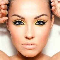 макияж для русых с серо голубыми глазами 8