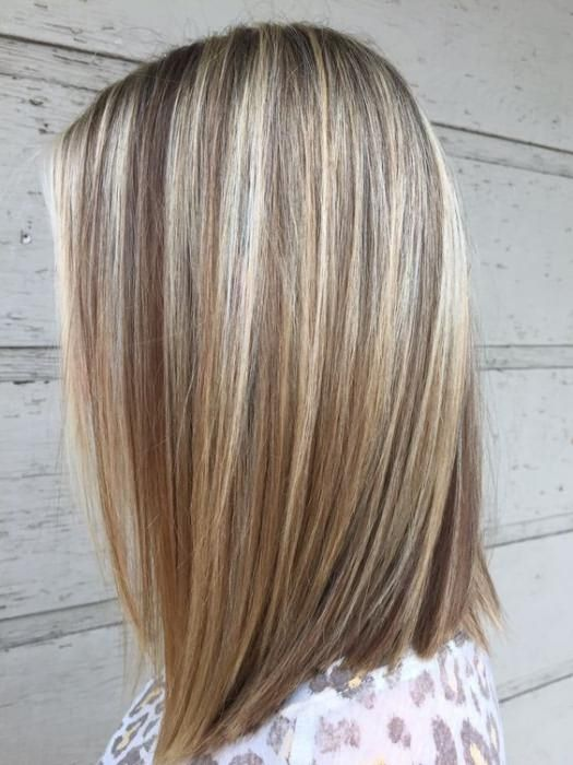покраска волос средней длины
