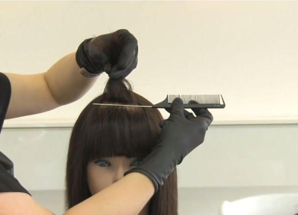 как сделать пиксельное окрашивание волос 1