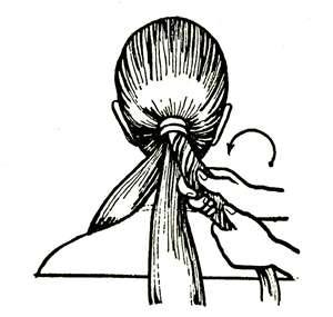 Прическа девочки. Коса из жгутов