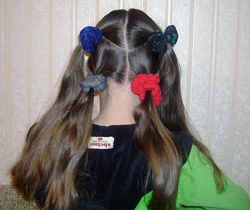 Создание двух перекрещенных кос: шаг 1