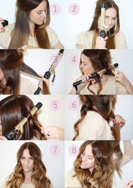 Фото правильного использования щипцов для завивки волос в домашних условиях