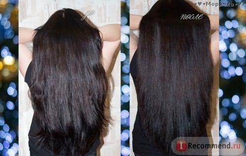результат до и после применения расчески выпрямителя Fast Hair Straightener