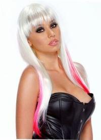 розовые пряди на светлых волосах 5